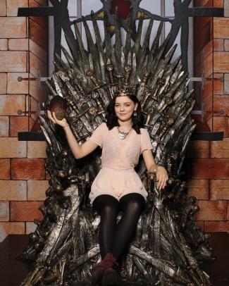 I got to sit on the Iron Throne!!!