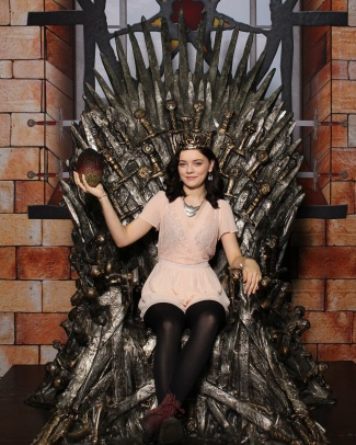 I got to sit on the Iron Throne!!!